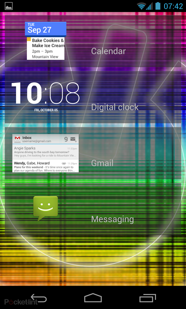 Nexus 4 and 10 Android 4.2 update brings lockscreen widgets and multi-user support - photo 5