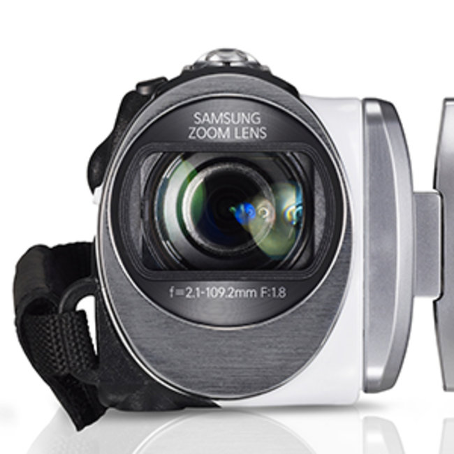 Samsung HMX-F90 5-megapixel camcorder, a bit of all-white - photo 1