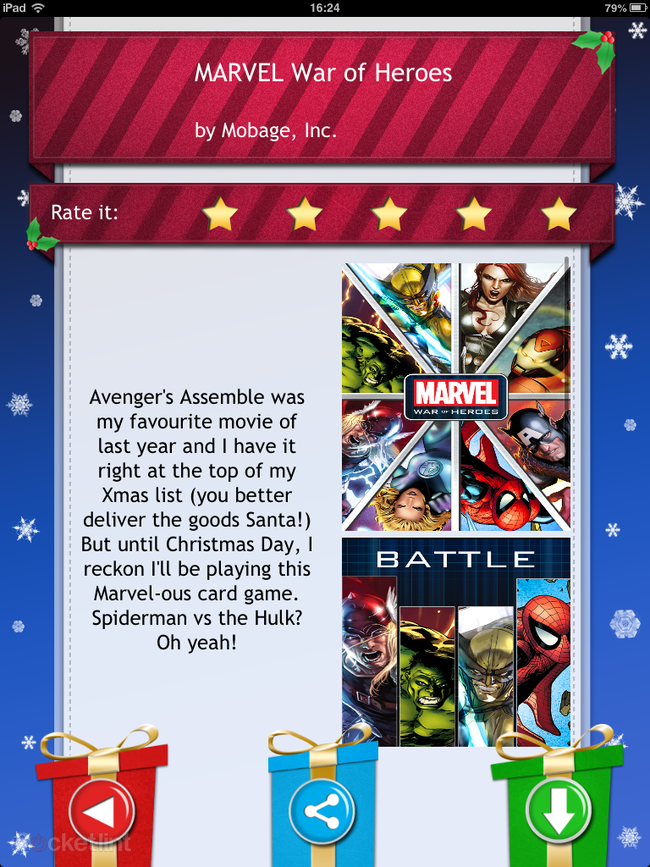 APP OF THE DAY: Advent 2012: 25 Christmas Apps review (iPhone, iPad and Android) - photo 12
