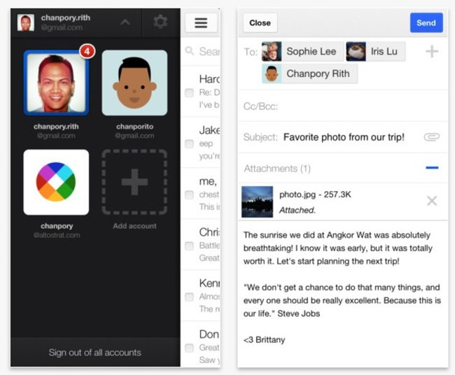 Gmail 2.0 adds multiple accounts and more for iPhone and iPad users - photo 3