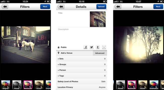 New-look Flickr iPhone app pictures and hands-on - photo 3