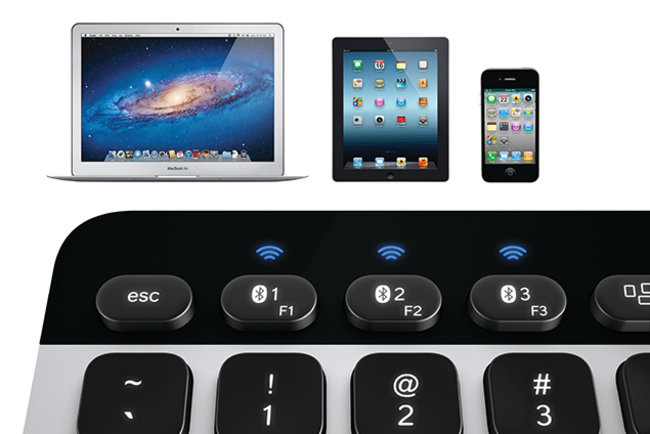 Logitech Bluetooth Easy-Switch Keyboard can pair with up to three OS X and iOS devices - photo 1