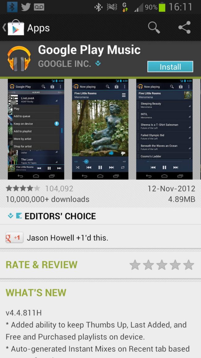 APP OF THE DAY: Google Play Music review (Android) - photo 2