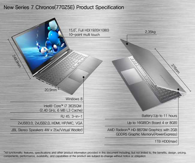 Samsung Series 7 steps up with Ultrabook and revamped Chronos laptop - photo 5