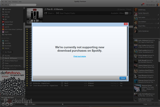 Spotify suspends music download service in the UK - photo 1