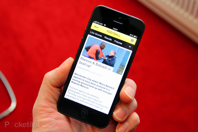 BBC Sport mobile app brings news and results to iPhone, Android coming in weeks - photo 1
