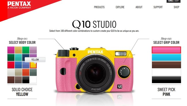Pentax Q10, now available in 100 different colour combinations - photo 2