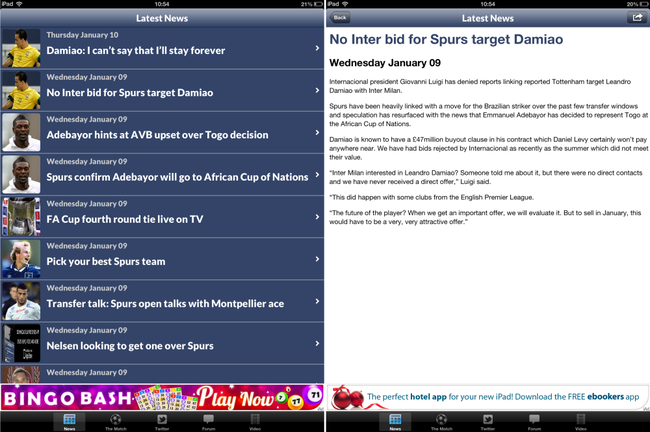 APP OF THE DAY: The Spurs Web review (iPad and iPhone) - photo 2