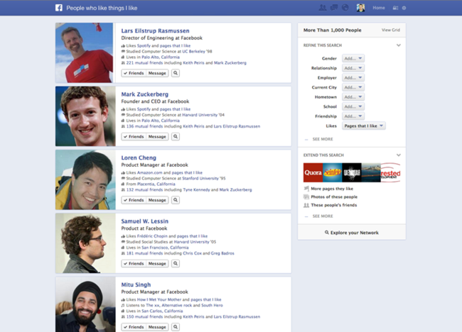 Facebook launches its own search engine: Graph Search - photo 3