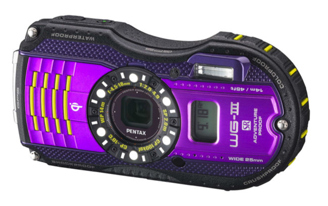 Pentax WG-3 GPS features Qi wireless charging, second display, is adventure proof - photo 1