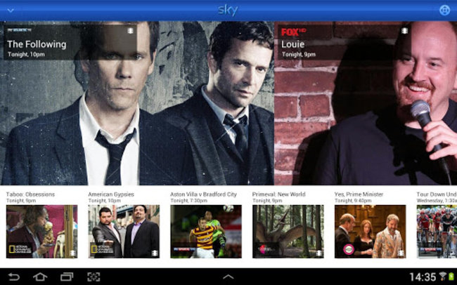 Sky+ for Android adds Planner Manager and Remote Control features - photo 8
