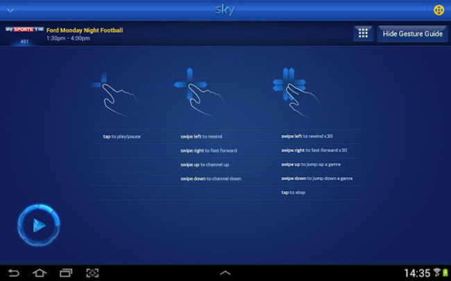 Sky+ for Android adds Planner Manager and Remote Control features - photo 9