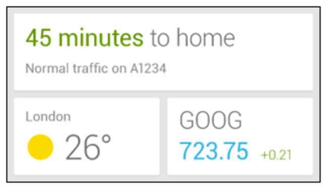 Google Now widget prematurely revealed by... Google - photo 2