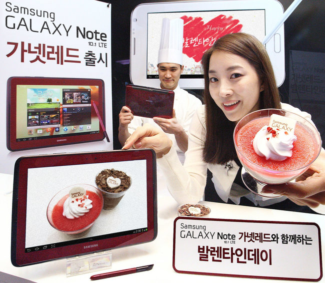 Samsung Galaxy Note 10.1 LTE released in red for Valentine's Day - photo 2