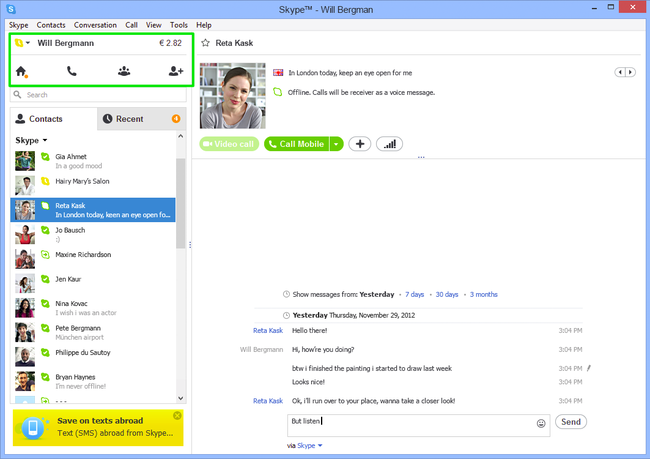 Skype 6.2 released for Windows and Mac, adding eGifting Skype credits - photo 2