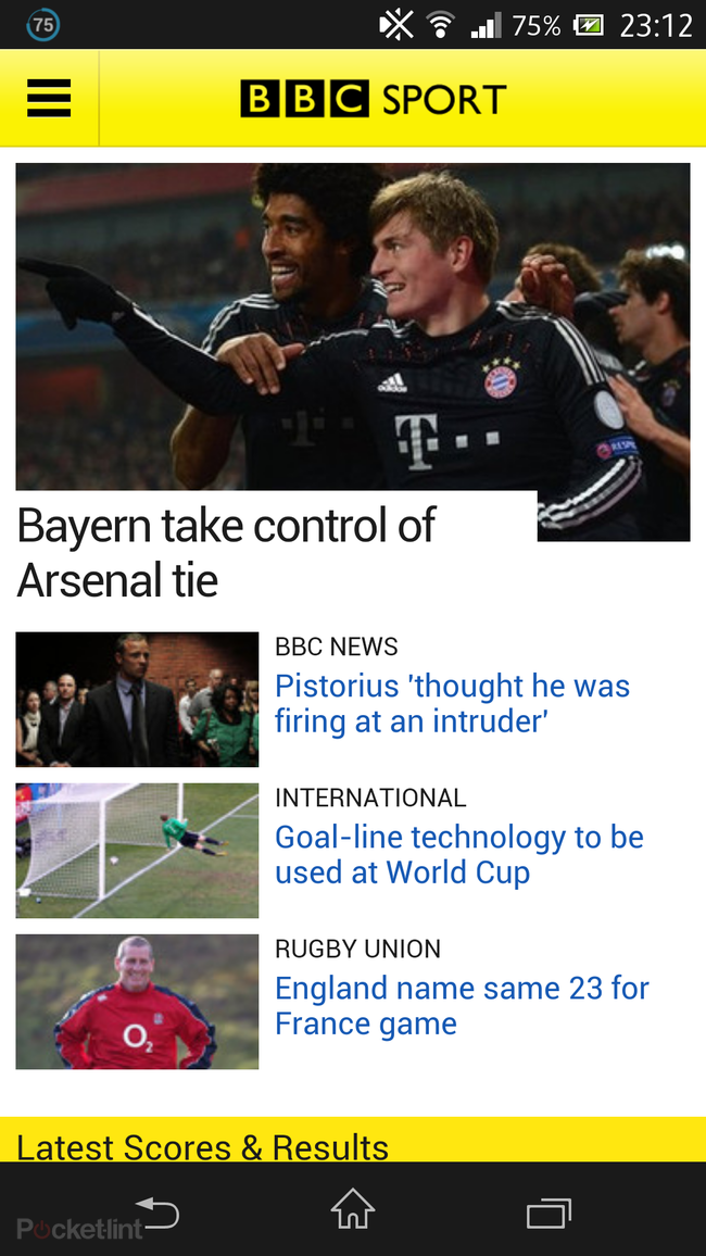 BBC Sport app for Android launched, optimised for devices up to 7-inches - photo 2