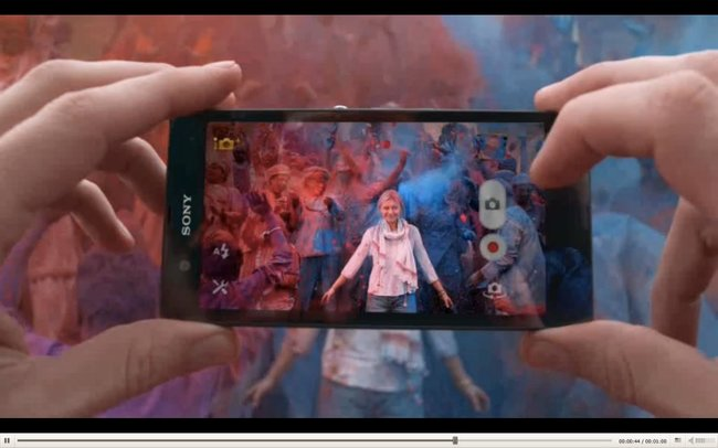 Sony Xperia Z advert looks to the past, before washing off in the present - photo 1