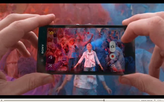 Sony Xperia Z advert looks to the past, before washing off in the present - photo 10