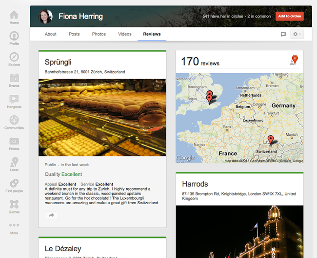 Google+ updated with local reviews tab and larger cover photos - photo 3