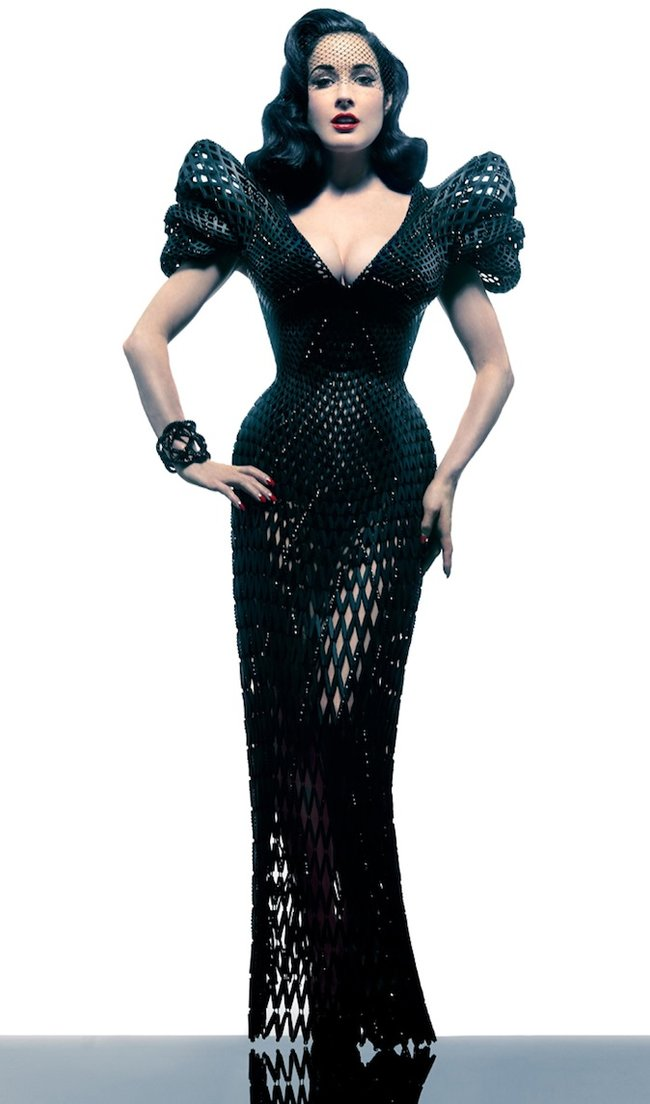 Is Dita Von Teese's 3D printed dress the sauciest use of the tech yet? - photo 6