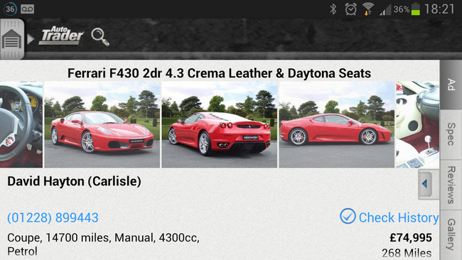 APP OF THE DAY: Autotrader review (Android) - photo 2
