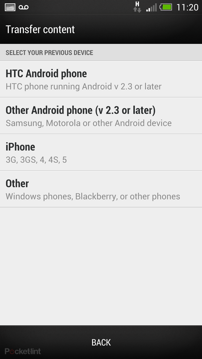 How to setup your HTC One: HTC Transfer Tool, Sync Manager or Get Started online - photo 6