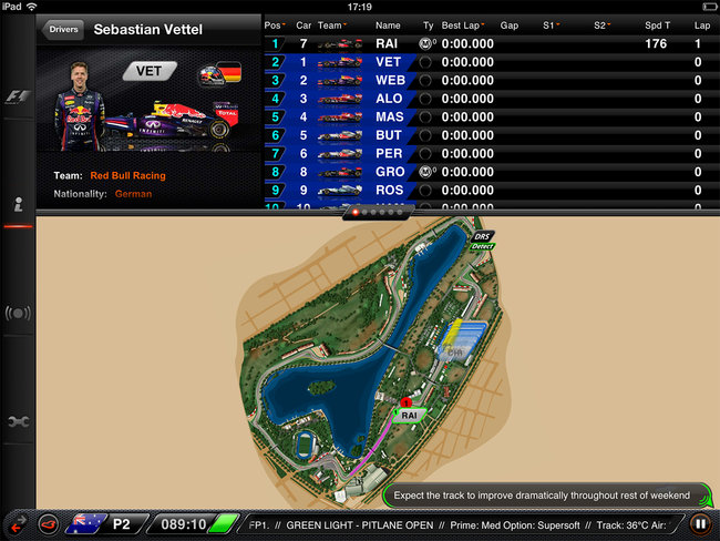 APP OF THE DAY: F1 2013 Timing App CP review (iPad) - photo 6
