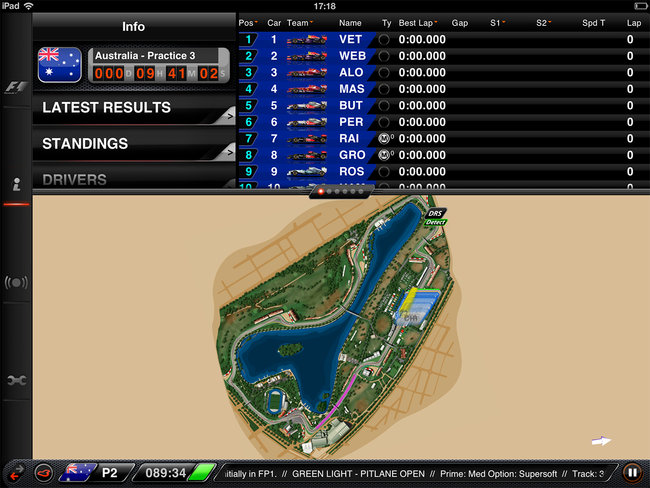 APP OF THE DAY: F1 2013 Timing App CP review (iPad) - photo 7
