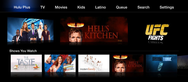 Hulu Plus on Apple TV reworked with new categories and easier playback - photo 2