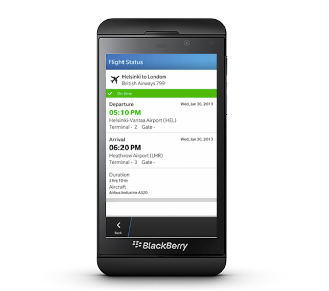 BlackBerry Travel makes its way to BB10 with new sharing features, price notifications - photo 2