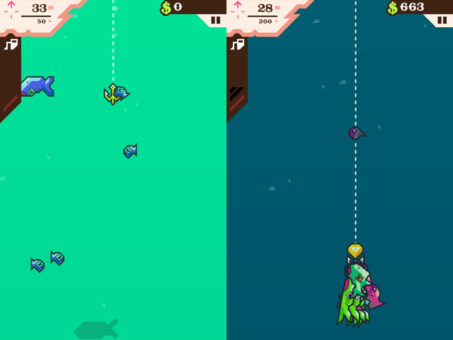App of the day: Ridiculous Fishing - A Tale of Redemption review (iPhone) - photo 3