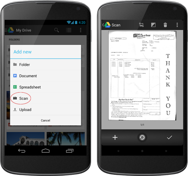 Google Drive for Android gets card-style design and document scanning - photo 1