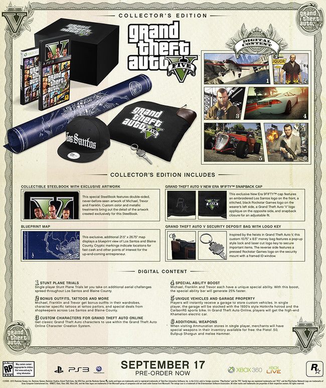 GTA V Special Edition and Collector's Edition sets revealed, pre-orders open - photo 3