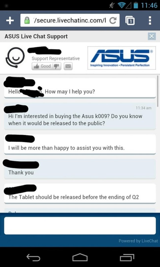 Asus chat support reveals new Nexus 7 2 specs - photo 2