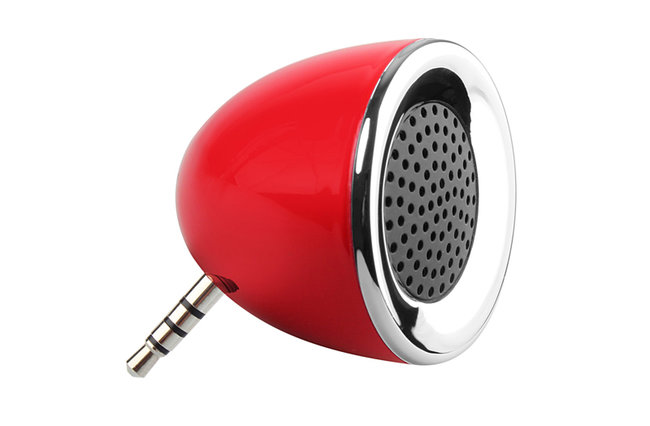 Brando offers tiny powered mobile phone speaker you pop in the headphone socket - photo 1