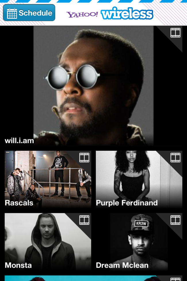 App of the day: Yahoo! Wireless Festival 2013 (iOS / Android / Blackberry) - photo 6