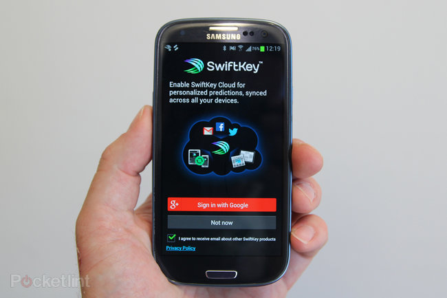 SwiftKey heads into the Cloud offering sync, back-up, trending phrases - photo 1