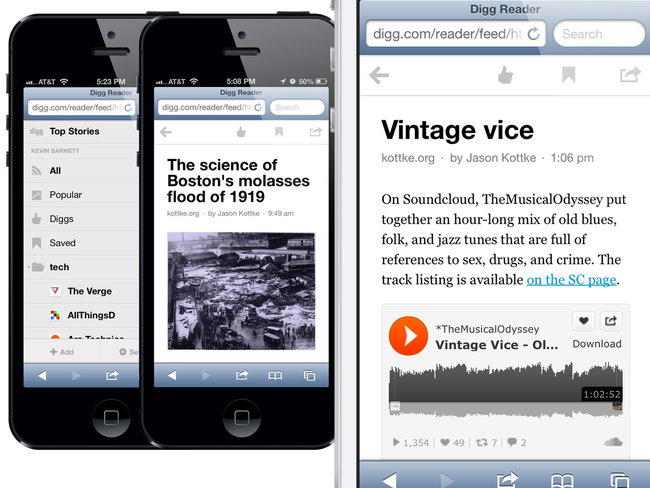 Digg: iOS app updated with unread setting, Android app coming soon - photo 1