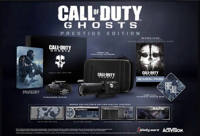 Activision confirms Call of Duty: Ghosts 'Hardened' and 'Prestige' special editions - and 1080p tactical HM camera - photo 1