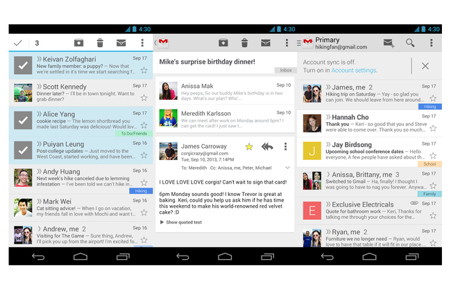 Gmail for Android update adds cleaner, card-like design to conversations - photo 2