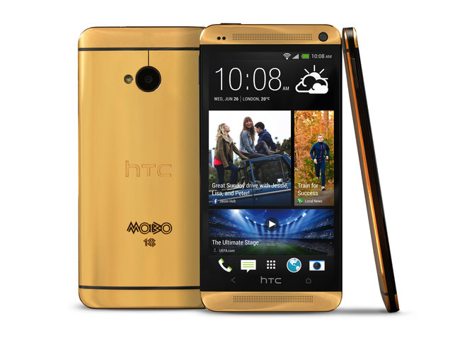 Gold HTC One official: Limited edition model goes to MOBO winners - photo 1