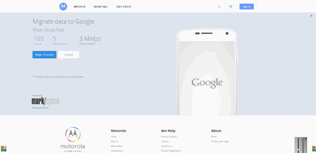 Motorola launches iCloud migration tool for Moto X, hoping to lure iPhone users - photo 2