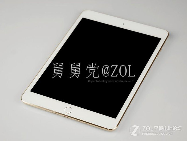 Alleged iPad mini 2 leaks in gold with Touch ID ahead of Apple event - photo 3