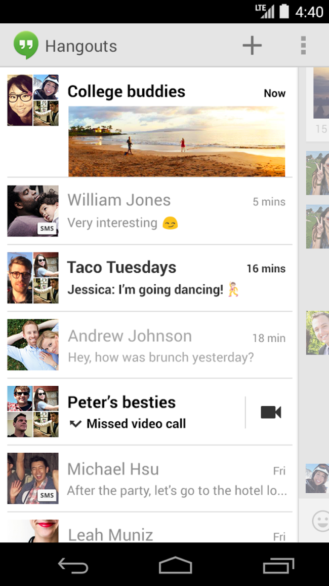 Google+ Hangouts with integrated SMS will ship with Nexus 5, come to Google Play in weeks - photo 5