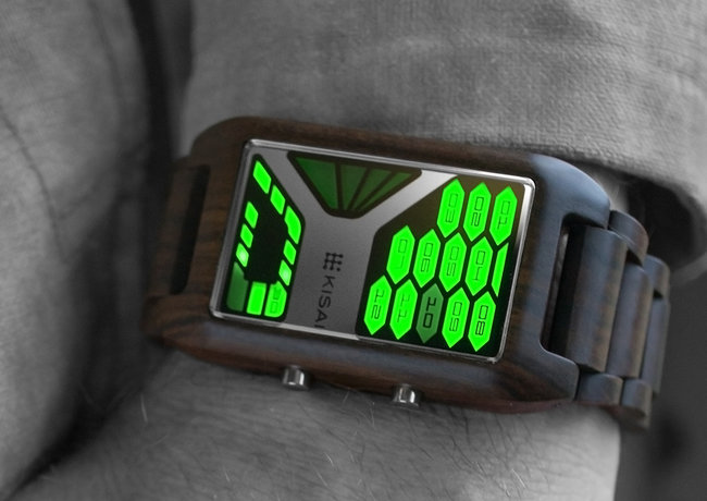 TokyoFlash Kisai Console Wood watch is one futuristic version of nature - photo 7