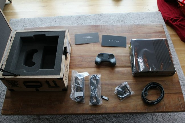 Lucky few unbox the beta Steam Machine for first time, sent by Valve in magical wooden box - photo 3