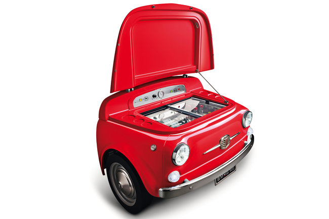 Smeg launches red variant of SMEG500, a chopped up Fiat 500 fridge - photo 1