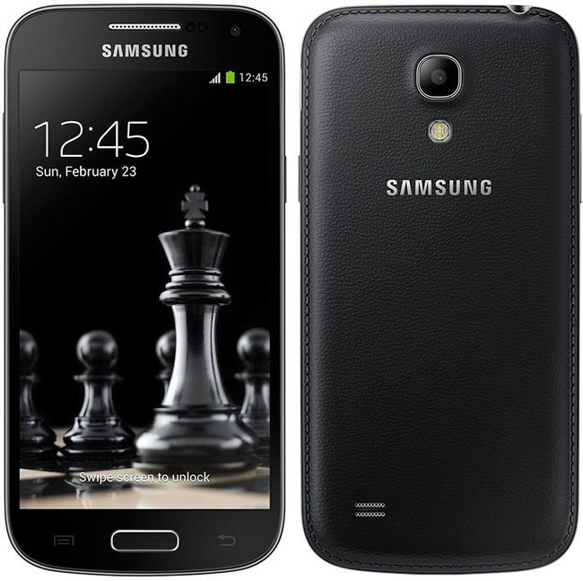 Samsung Galaxy S4 and Galaxy S4 Mini handsets in jet black with faux leather backs hit Russia first - photo 2