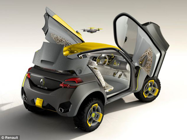 Renault Kwid concept car comes with its own traffic scouting quadcopter - photo 2