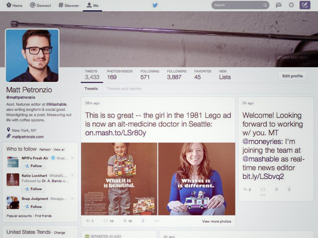Twitter's website tests new redesign with Pinterest-like timeline - photo 1